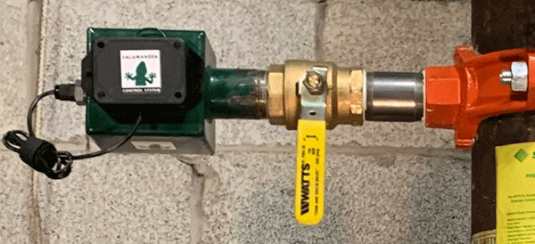 Salamander Reservoir: installation on a wet sprinkler system